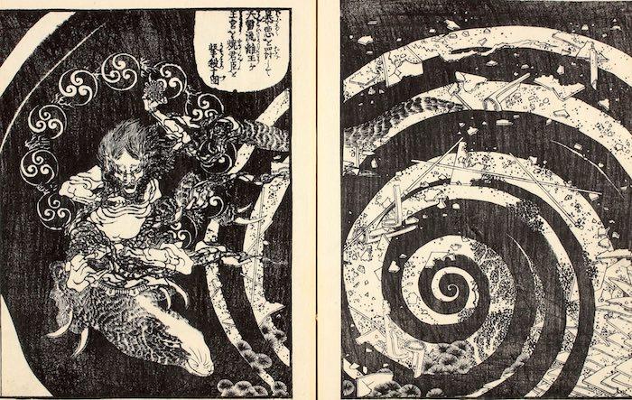 『釈迦御一代記図会』より(葛飾北斎の画)