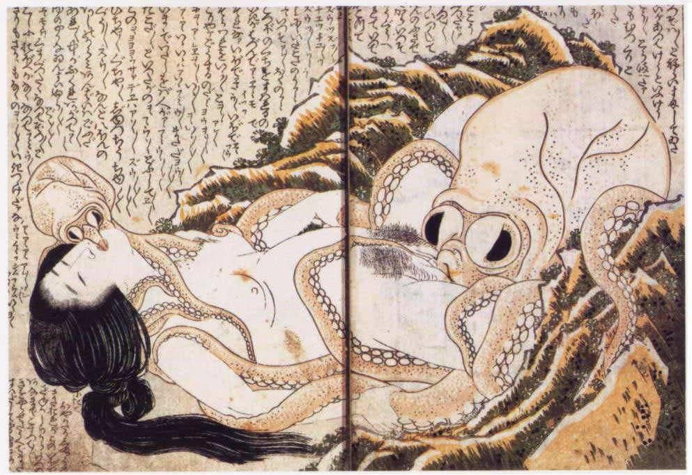 蛸と海女(葛飾北斎の画)の拡大画像