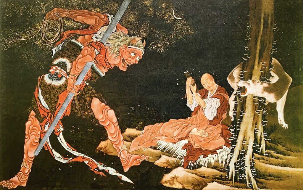 弘法大師修法図(葛飾北斎の画)の拡大画像