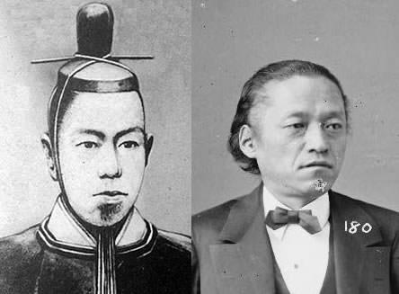 孝明天皇、岩倉具視の写真