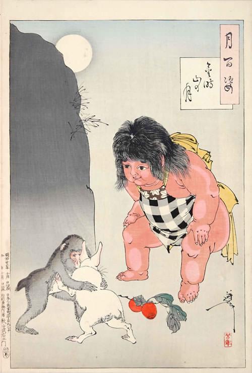 『金時山の月』(『月百姿』シリーズ、作・月岡芳年)