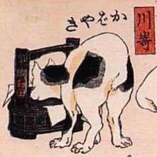 川崎 猫飼好五十三疋(歌川国芳の画)