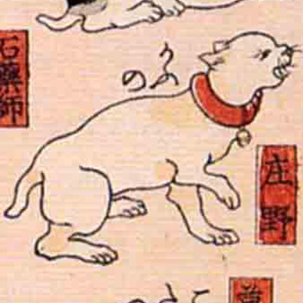 庄野/其のまま地口 猫飼好五十三疋(歌川国芳 画)の拡大画像