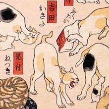 吉田 猫飼好五十三疋(歌川国芳の画)