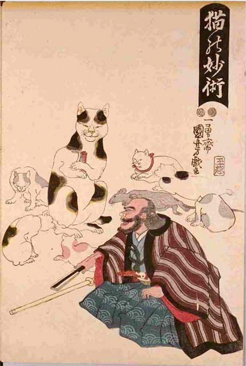 猫の妙術(歌川国芳の画)