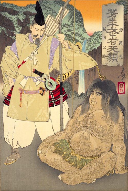 『阪田公時・源頼光』(1886年/明治19年)(『芳年武者无類』より、月岡芳年 画)