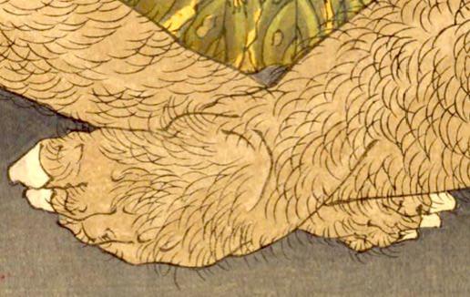 金太郎が描かれた浮世絵(『芳年武者无類』より、月岡芳年 画)