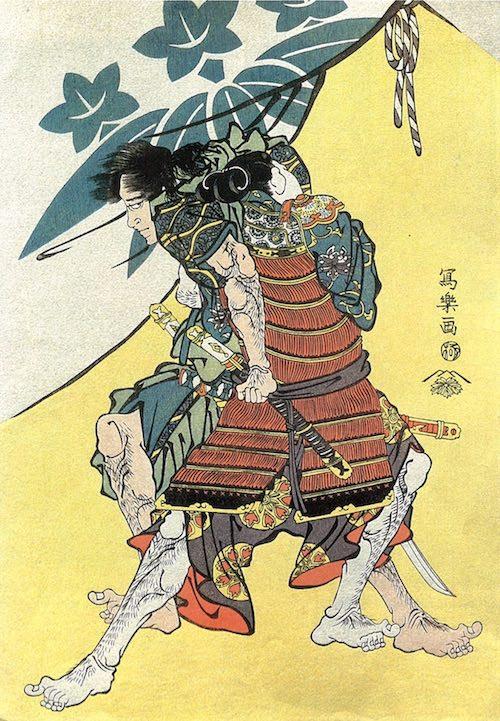 御所五郎丸が描かれた浮世絵(東洲斎写楽 画)