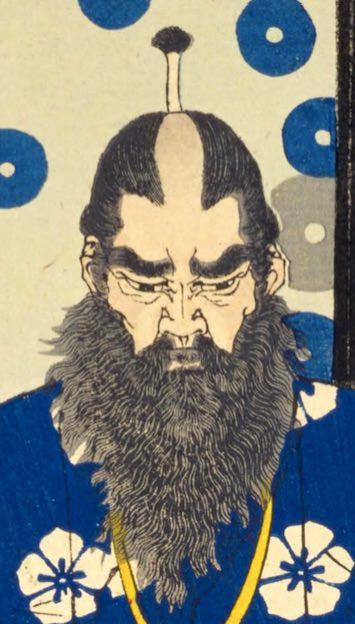 加藤清正が描かれた浮世絵(『芳年武者无類』より、月岡芳年 画)