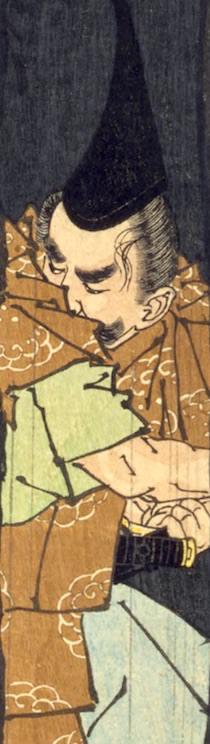 平忠盛が描かれた浮世絵(『芳年武者无類』より、月岡芳年 画)