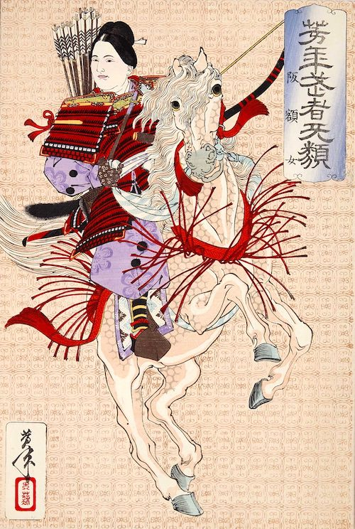 『阪額女』(1883年/明治16年)(『芳年武者无類』より、月岡芳年 画)