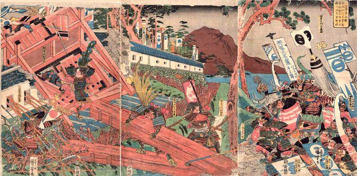 篠塚重広が描かれた浮世絵(歌川国芳 画)