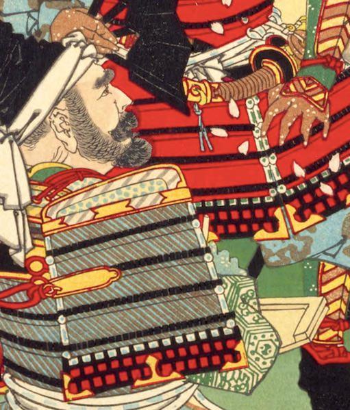 弁慶が描かれた浮世絵(『芳年武者无類』より、月岡芳年 画)