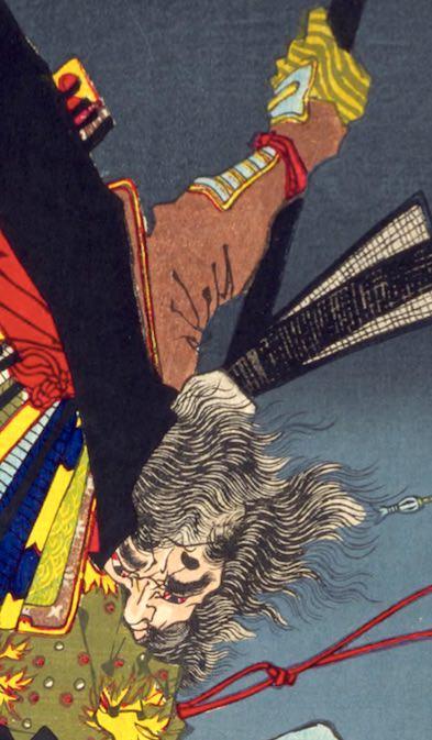 平将門が描かれた浮世絵(『芳年武者无類』より、月岡芳年 画)
