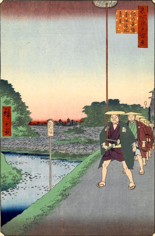 『名所江戸百景 紀乃国坂赤坂溜池遠景』(歌川広重 画)