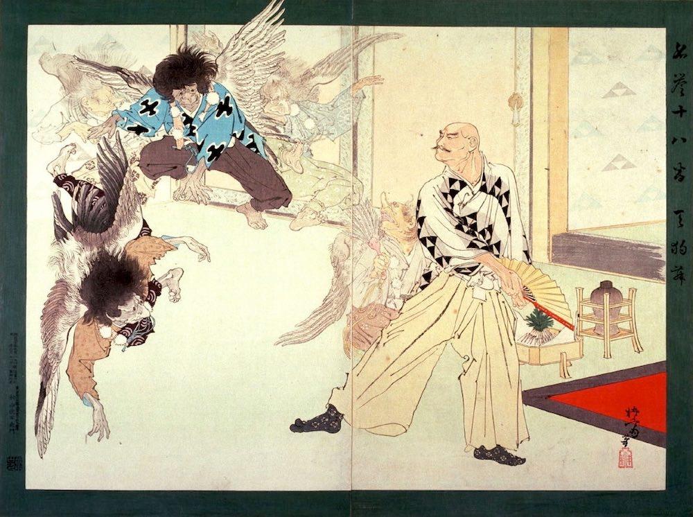 『名誉十八番 天狗舞』(右田年英 画)の拡大画像