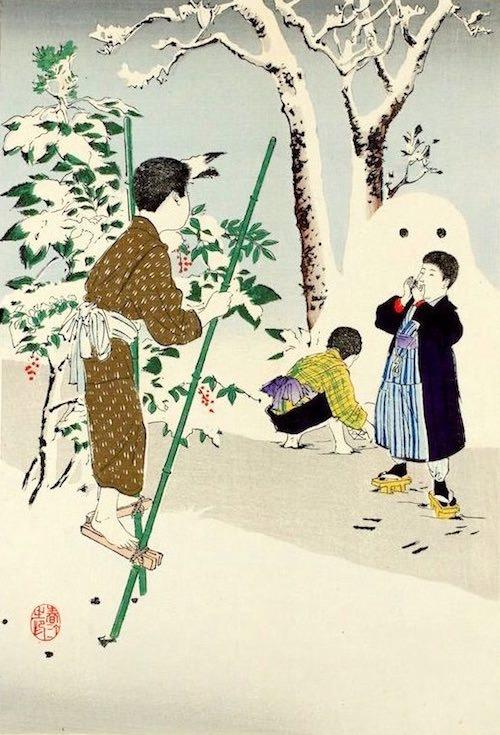 『子供風俗 たけうま』(宮川春汀 画)