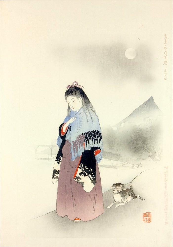 『東京名所図会 築地門跡』(宮川春汀 画)の拡大画像