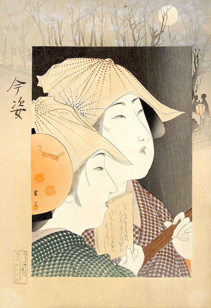 『今姿 三すじ』(山本昇雲 画)の拡大画像