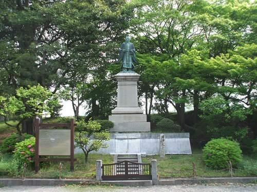 井伊直弼銅像(彦根城 金亀児童公園)