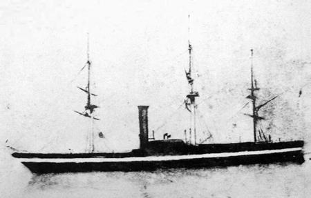黒船・ポーハタン号の写真