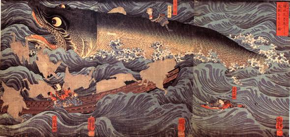 讃岐院眷族をして為朝をすくう図(幕末の浮世絵師・歌川国芳の画)