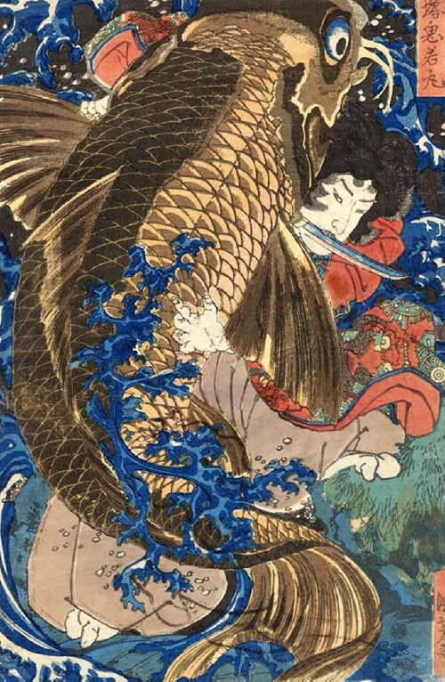 西塔鬼若丸(幕末の浮世絵師・歌川国芳の画)
