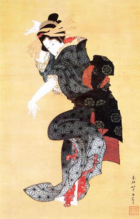 手踊図(葛飾北斎の画)