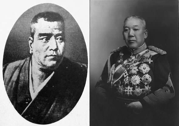 西郷隆盛の肖像画、大山巌の写真