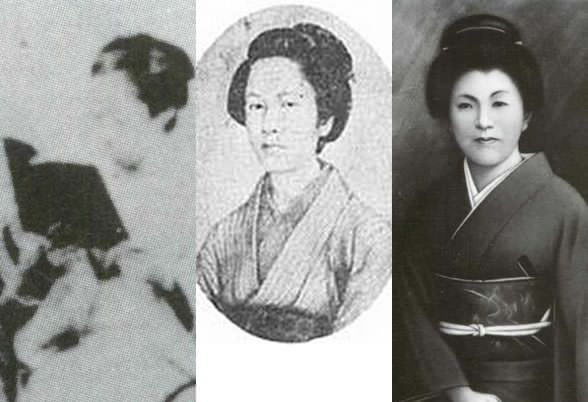 照姫、中野竹子、西郷千重子の写真