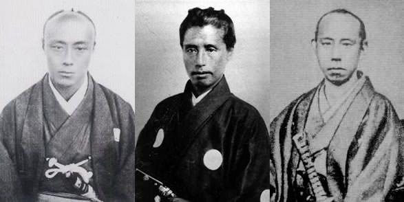 徳川慶喜、勝海舟、松平春嶽の写真