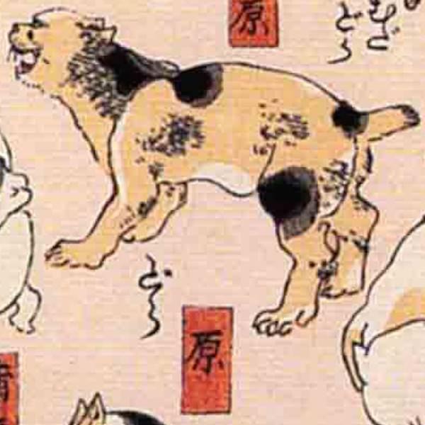 原/其のまま地口 猫飼好五十三疋(歌川国芳 画)の拡大画像