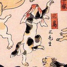 三島 猫飼好五十三疋(歌川国芳の画)
