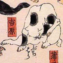 吉原/其のまま地口 猫飼好五十三疋(歌川国芳 画)